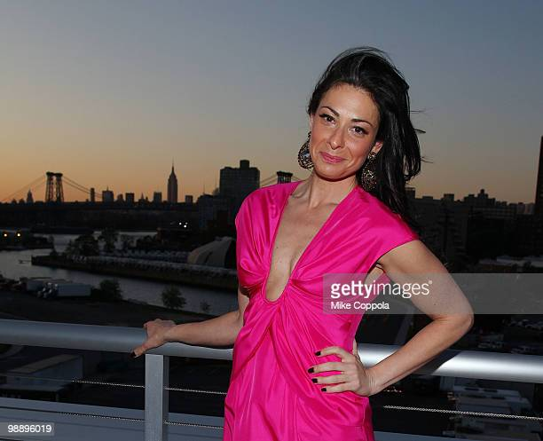 Media personality Stacy London attends The American Cancer Society's 2010 Pink and Black Tie Gala at Steiner Studios on May 6, 2010 in the Brooklyn...