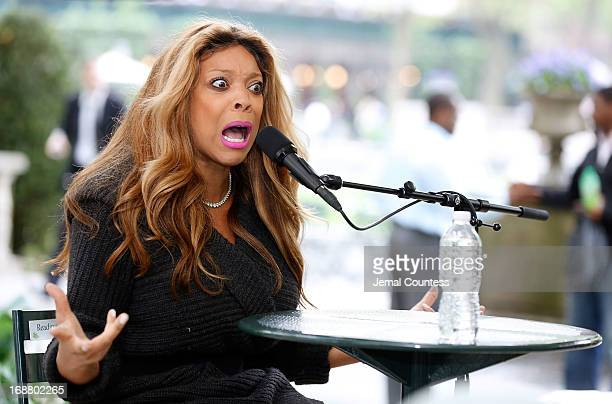 Media personality/author Wendy Williams speaks to the audience at The Bryant Park Reading Room on May 15 2013 in New York City