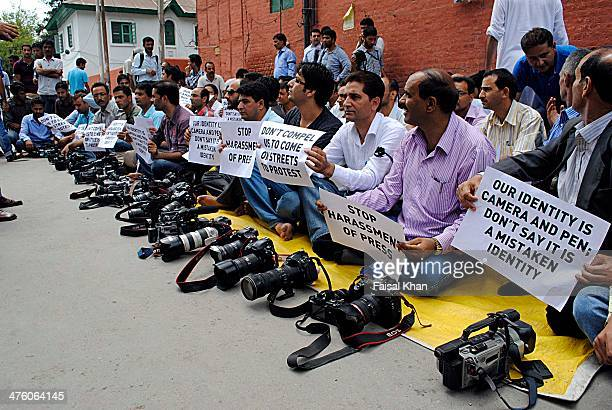 Media persons in Kashmir held a peaceful protest in Srinagar to protest against the beating and detention of two photojournalists including a...