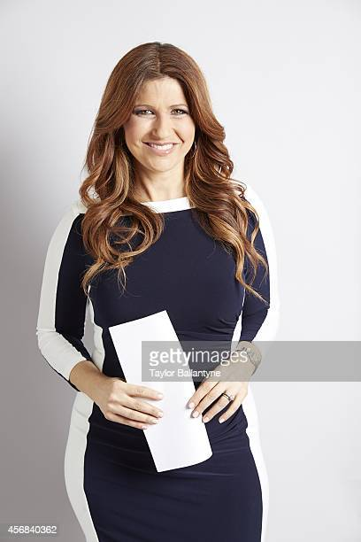 Portrait of CNN Sports reporter Rachel Nichols during photo shoot at Time Life Building New York NY CREDIT Taylor Ballantyne