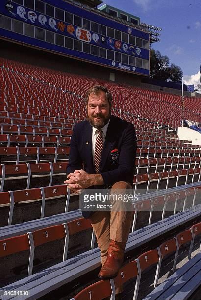 Portrait of NBC Sports announcer Merlin Olsen Pasadena CA 1/1/1983 1/31/1983 CREDIT John Iacono