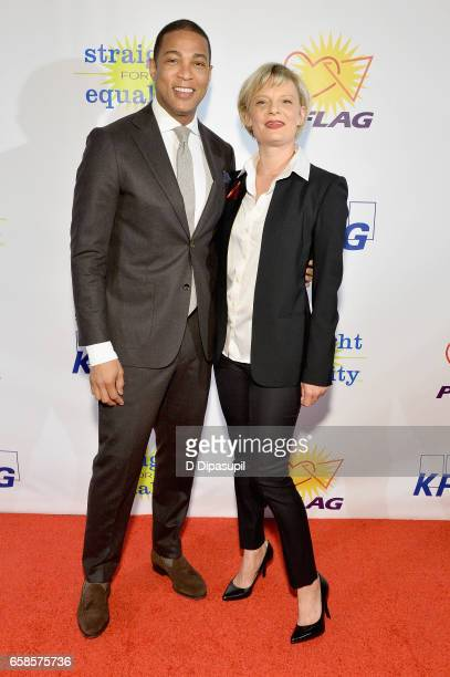 Media Presenter, journalist Don Lemon and Entertainment Honoree, actress Martha Plimpton attends the ninth annual PFLAG National Straight for...