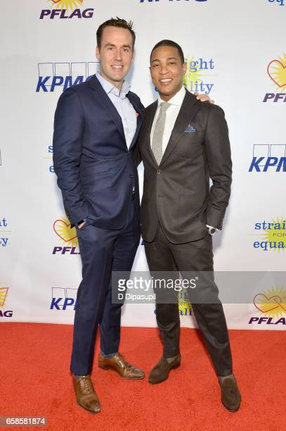 Media presenter, journalist Don Lemon and guest attend the ninth annual PFLAG National Straight for Equality Awards Gala on March 27, 2017 in New...