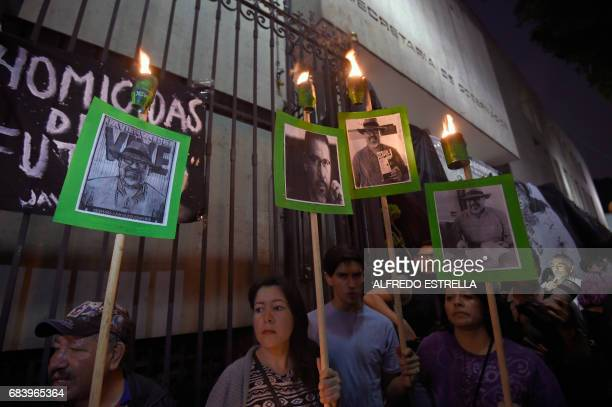 Media rights groups and people in general protest to demand the Mexican government catch the killers of Javier Valdez the fifth and most highprofile...