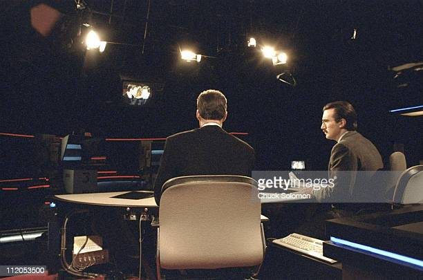 SportsCenter announcer Keith Olbermann on air with Dan Patrick at ESPN studiosBristol CT CREDIT Chuck Solomon