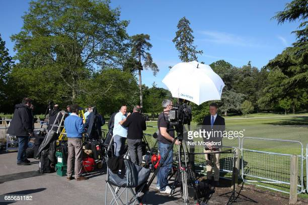 Media take their positions at St Mark's Church for the Wedding of Pippa Middleton and James Matthews on May 20 2017 in Englefield England