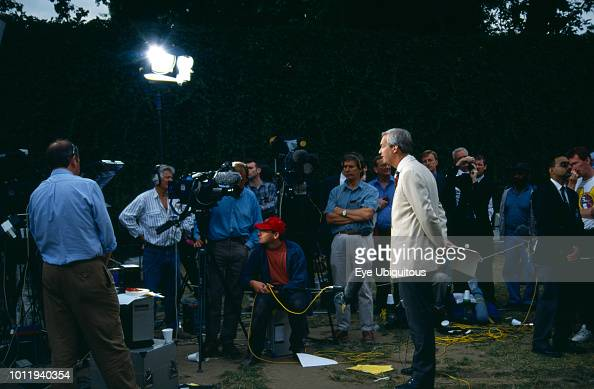 Media Television, Peter snow Channel 4 News  News Photo