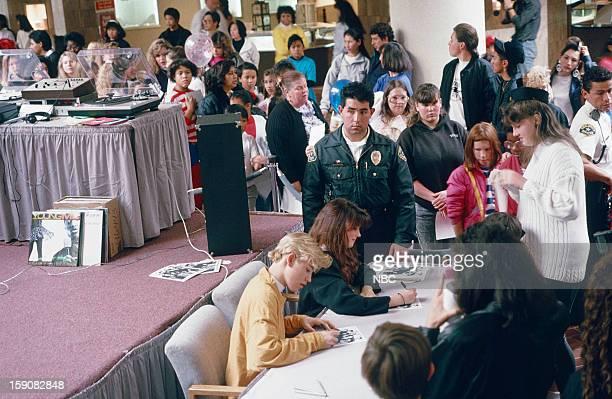 Media Tour -- Pictured: Mark-Paul Gosselaar as Zack Morris, Tiffani Thiessen as Kelly Kapowski -- Photo by: Joseph Del Valle/NBCU Photo Bank via...