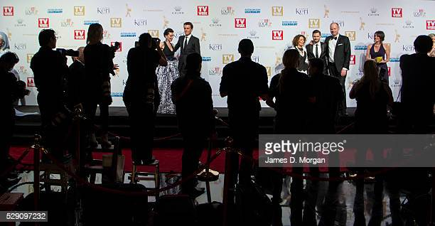 Media watch stars from Australian television arrive at the 58th Annual Logie Awards at Crown Palladium on May 8 2016 in Melbourne Australia