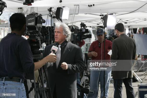 Media work at pop singer Michael Jackson's child molestation trial at Santa Barbara County Court in Santa Maria