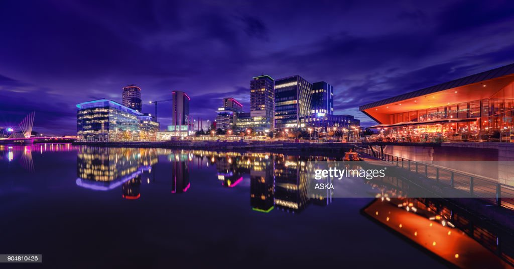 MediaCity UK, Salford Quays, Manchester : Stock Photo