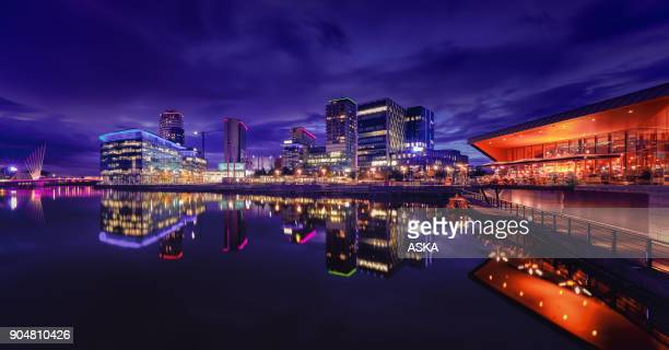mediacity uk, salford quays, manchester - manchester uk stock photos and pictures