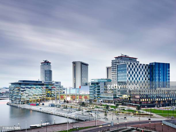 mediacityuk, manchester, united kingdom - manchester england stock pictures, royalty-free photos & images