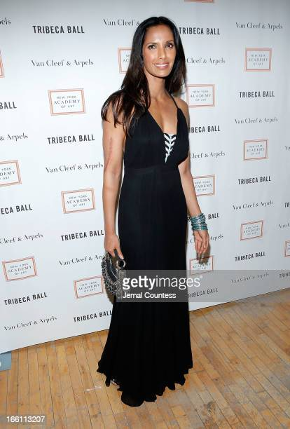 Media/TV personality Padma Lakshmi attends the 2013 Tribeca Ball at New York Academy of Art on April 8 2013 in New York City