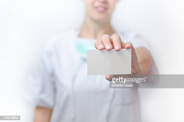 Medic Holding a card