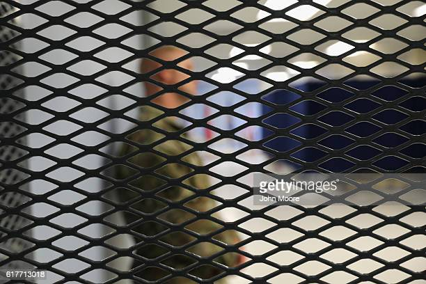 A US medic stands in the detainee clinic of the Gitmo maximum security detention center on October 22 2016 at the US Naval Station at Guantanamo Bay...