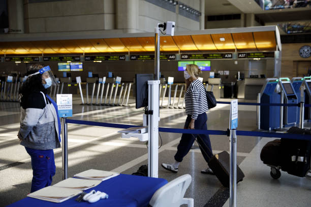 CA: Traveler Covid-19 Screening At LAX Airport