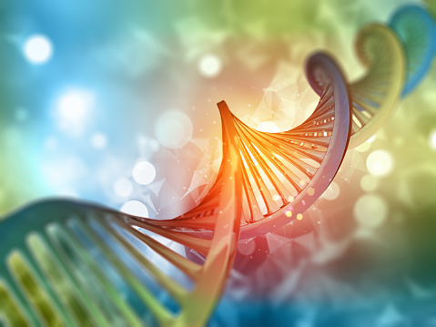 3D medical background with DNA strand 902874274