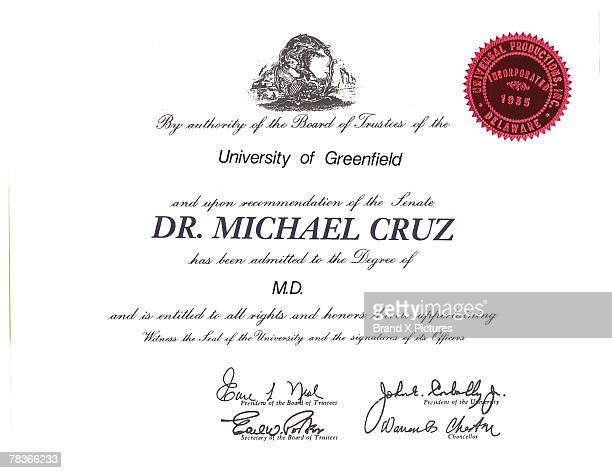 medical diploma - diploma stock pictures, royalty-free photos & images