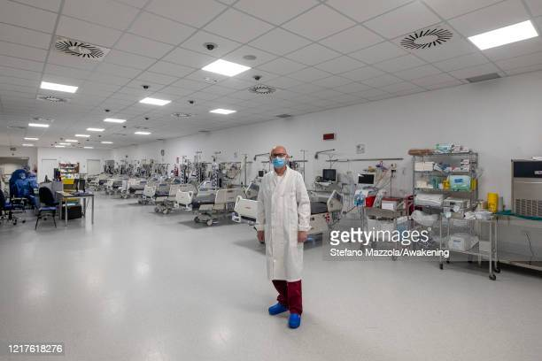 Medical Director Alberto Rigo poses in recovery room in hospital Schiavonia on April 08 2020 in Padua Italy There have been well over 100000 reported...