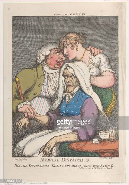 Medical Dispatch or Doctor Doubledose Killing Two Birds with One Stone, November 20, 1810. Artist Thomas Rowlandson.