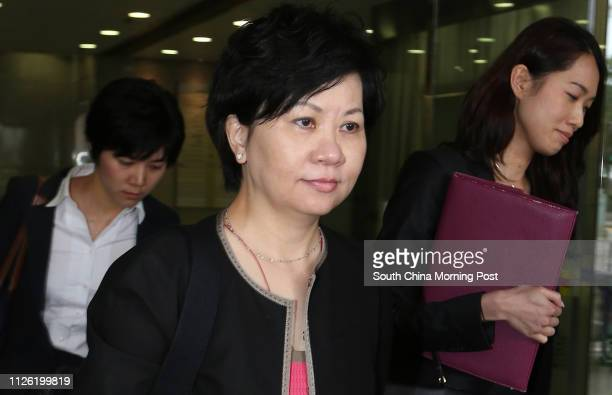 Medical doctor Yau Yatyin leaves Eastern Magistrates' Court in Sai Wan Ho after hearing for supplying dangerous drug to a person not authorized or...