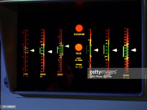 Medical equipment in the Enterprise's sick bay in the STAR TREK episode Charlie X Season 1 episode 2 Original air date September 15 1966 Image is a...