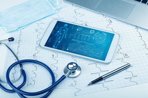 Medical full body screening software on tablet 1131120830