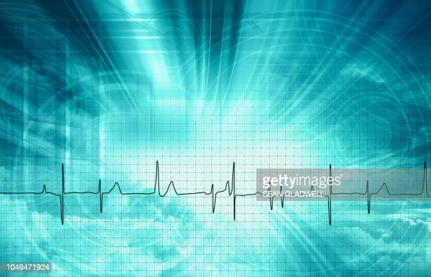 medical heart beat backdrop - pulse trace stock pictures, royalty-free photos & images
