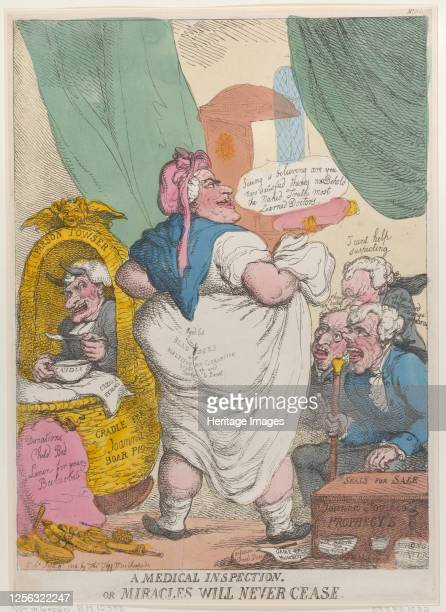 Medical Inspection or Miracles Will Never Cease, September 15, 1814. Artist Thomas Rowlandson.