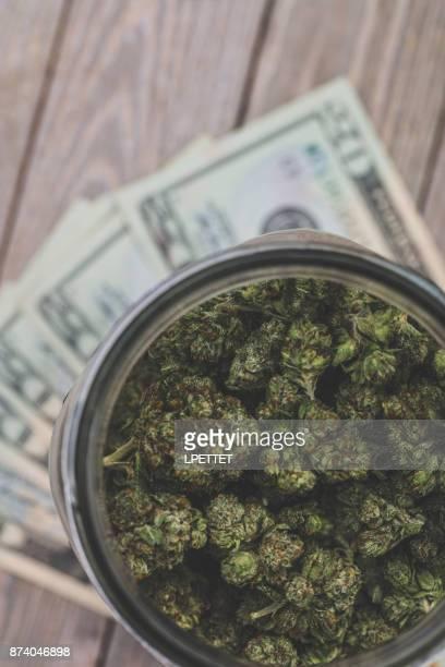 medical marijuana - marijuana money stock photos and pictures