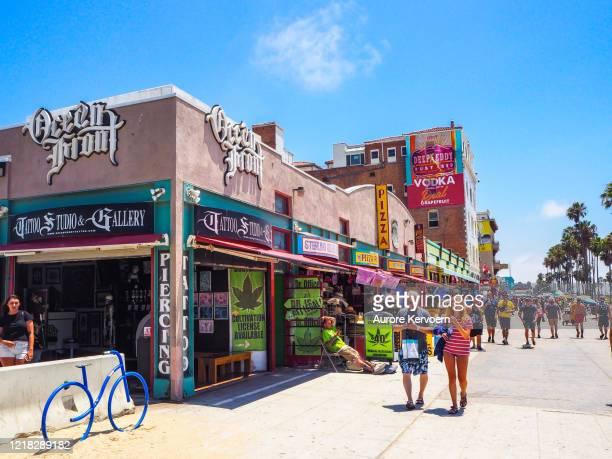 medical marijuana store in venice beach - marijuana leaf stock pictures, royalty-free photos & images