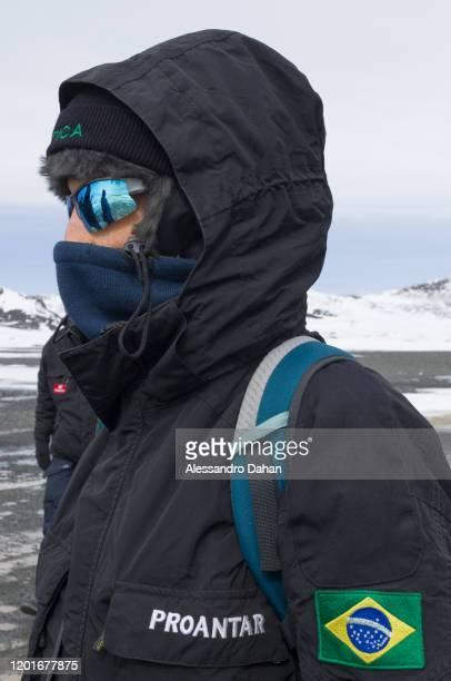 Medical member of the Ferraz Base Group on November 04 2019 in King George Island Antarctica