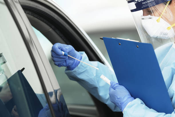 AUS: Drive Through Coronavirus Testing Clinic Set Up At Bondi Beach