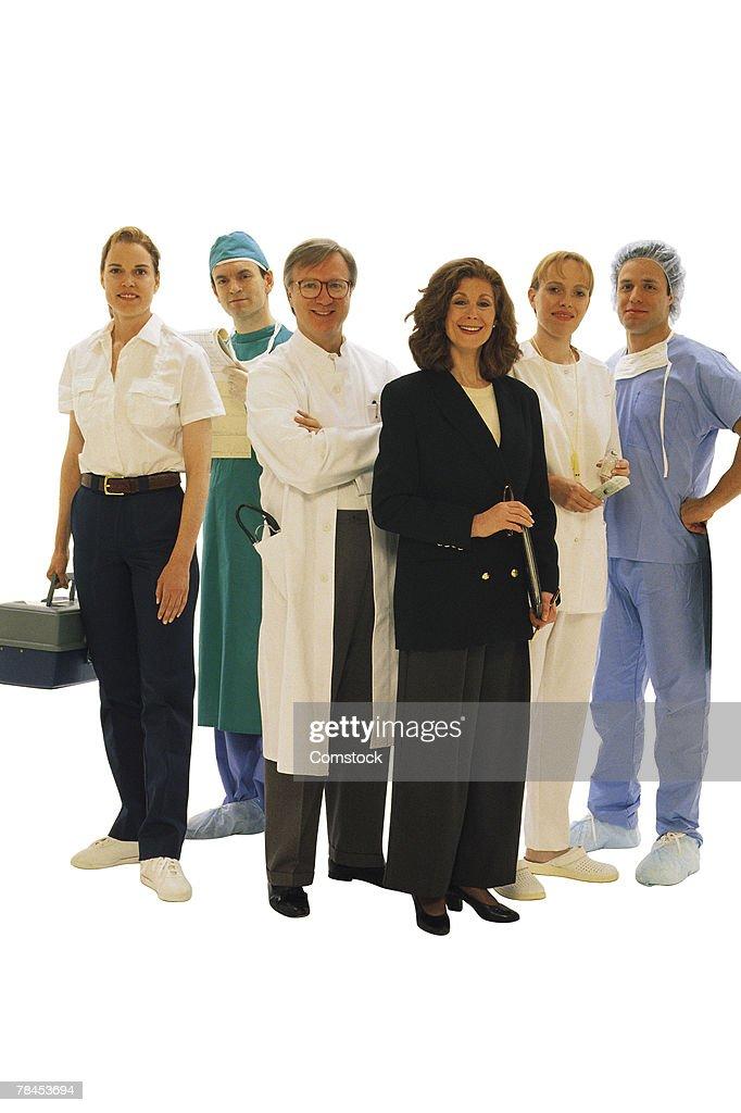 Medical professionals posing : Stockfoto