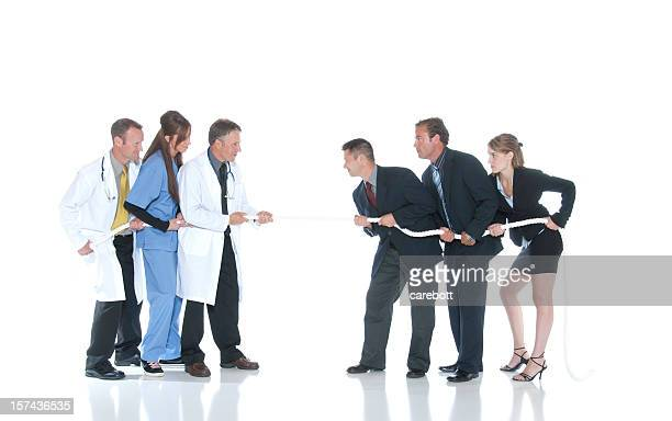 Medizinische Fachleute vs. Geschäftsleute