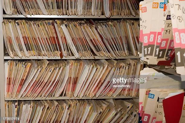 Medical Records Closeup