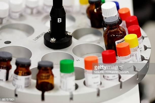 Medical samples in centrifuge