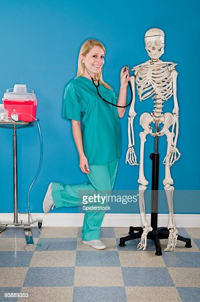 medical spoof - naughty nurse images stock photos and pictures