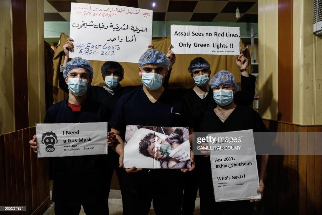 TOPSHOT-SYRIA-CONFLICT-GAS-PROTEST : Fotografía de noticias