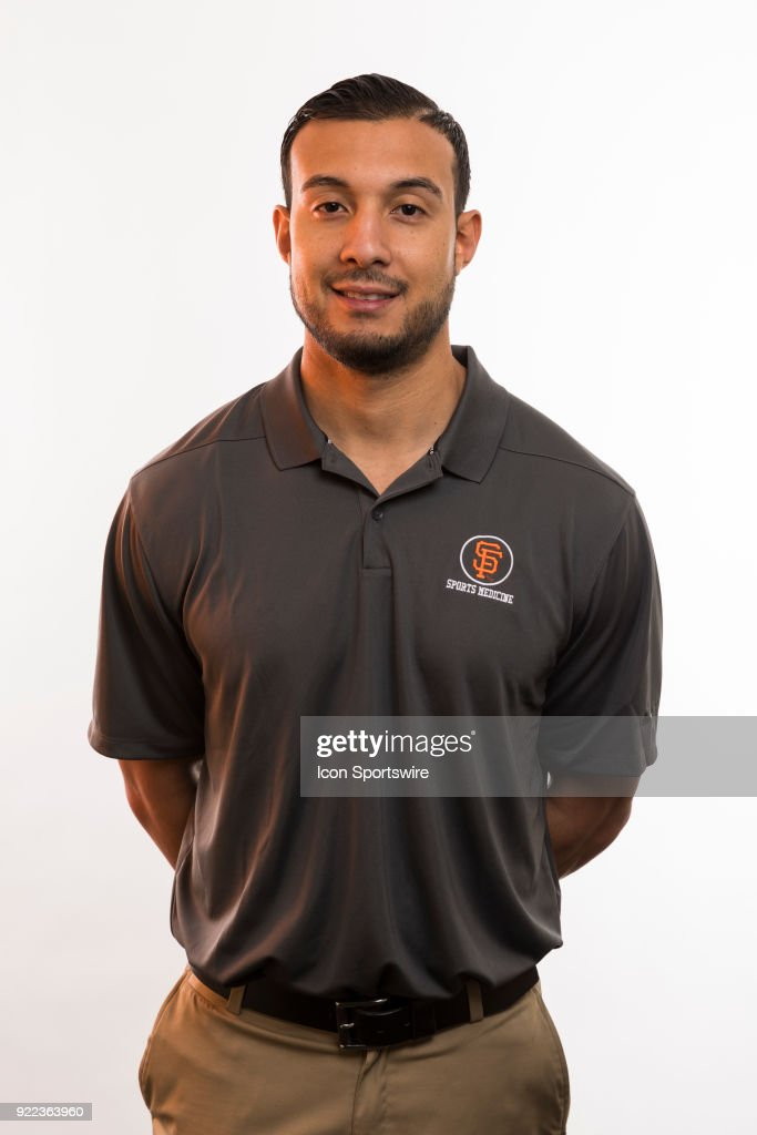 Medical staff Frank Perez poses for a photo during the San Francisco Giants photo day on Tuesday, Feb. 20, 2018 at Scottsdale Stadium in Scottsdale, Ariz.