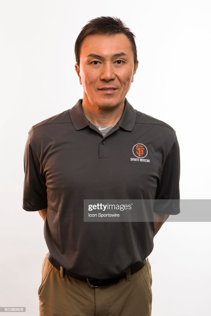 Medical staff Haro Ogawa poses for a photo during the San Francisco Giants photo day on Tuesday, Feb. 20, 2018 at Scottsdale Stadium in Scottsdale, Ariz.