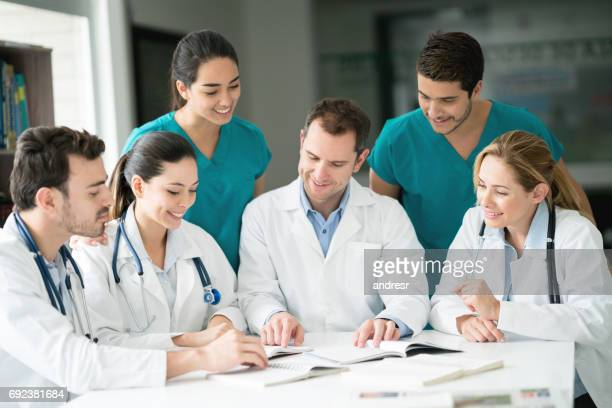 Medical staff in a meeting at the hospital