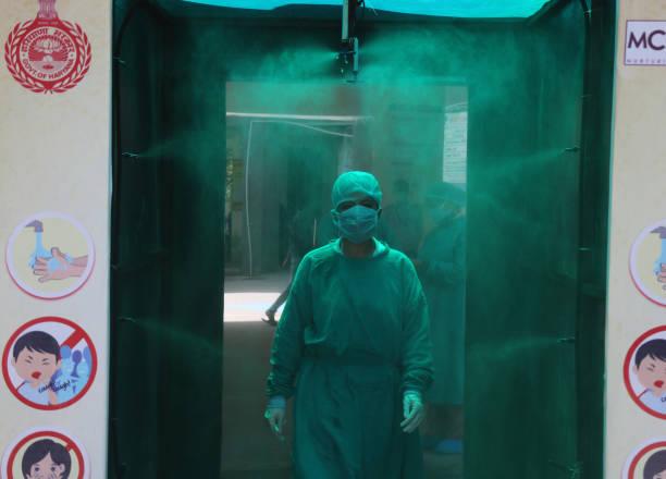 IND: GurugramCivil Hospital Installs Disinfection Tunnel To Curb The Spread Of Coronavirus