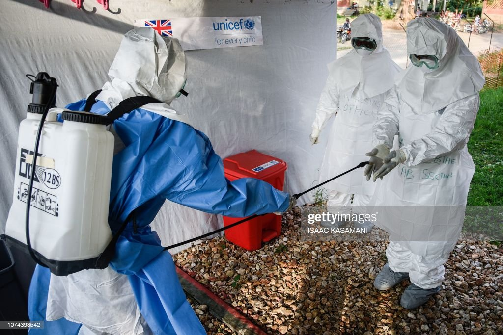 UGANDA-DRCONGO-HEALTH-EBOLA-Uganda-DRCongo-health-Ebola : News Photo