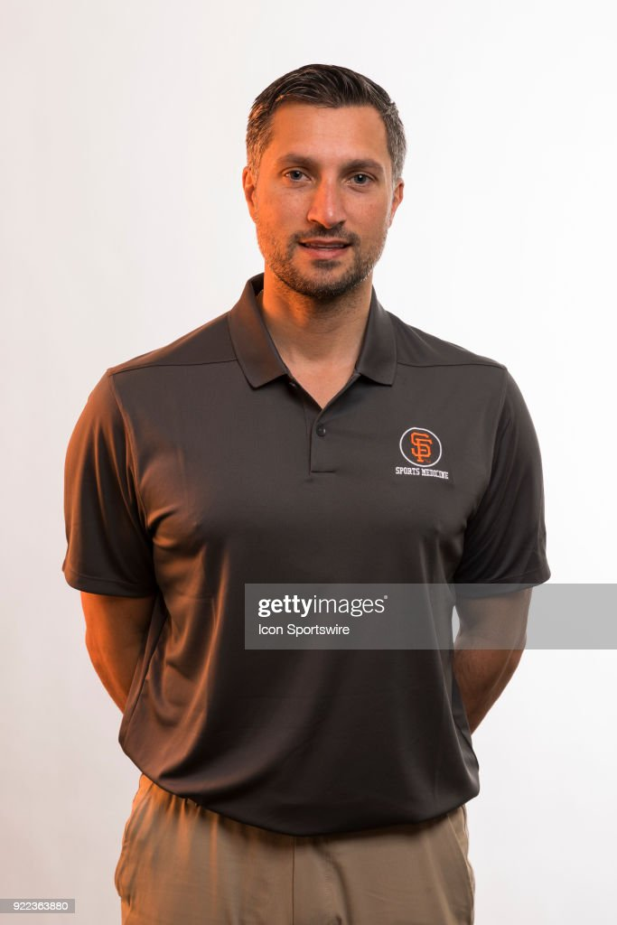 Medical Staff Tony Roale poses for a photo during the San Francisco Giants photo day on Tuesday, Feb. 20, 2018 at Scottsdale Stadium in Scottsdale, Ariz.