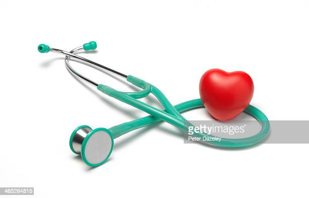 Medical stethoscope with heart