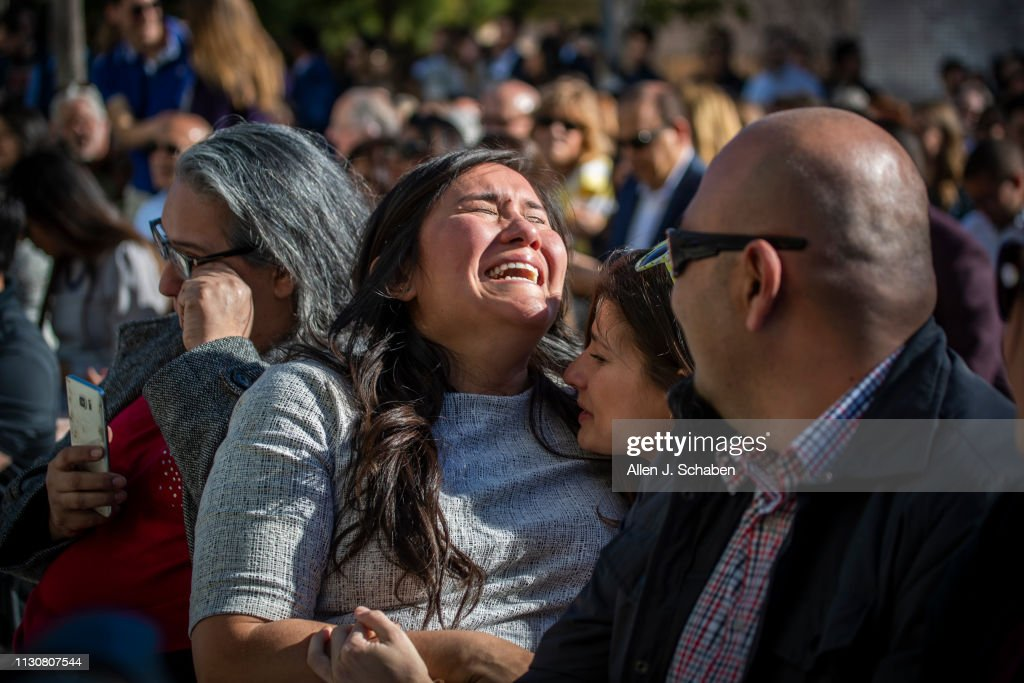 UCI medical student Graciela Maldonado sheds tears of joy