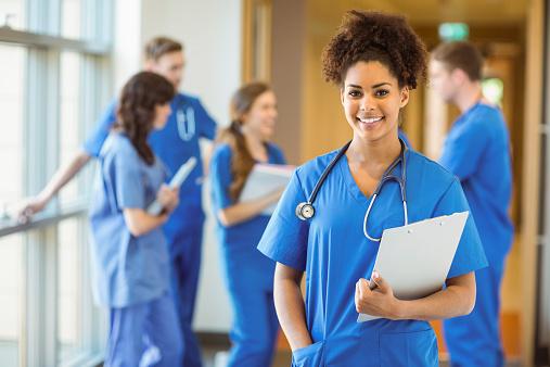 Medical student smiling at the camera 532394839