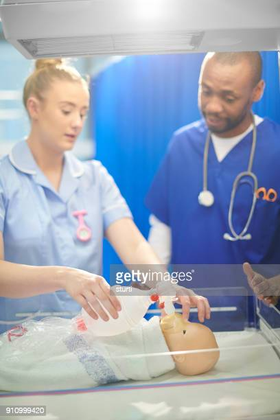 medical student  with paediatrician